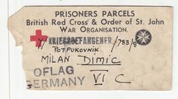 POW Prisoners Parcels British Red Cross Kriegsgefangener Oflag Germany VI C B190220 - Guerre Mondiale (Seconde)