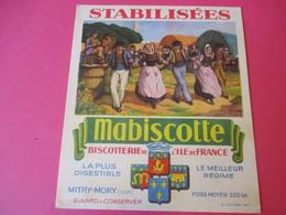 Buvard//Stabilisées/MABISCOTTE/Danses Bretonnes/Biscotterie Ile De France/MITRY-MORY (S&M)/Sirven/Vers 1940-1960  BUV438 - Zwieback