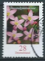 ALLEMAGNE ALEMANIA GERMANY DEUTSCHLAND BUND 2014 FLOWERS - TAUSENDGÜLDENKRAUT USED MI 3088 YV 2910 SC 2404A SG 3308A - BRD