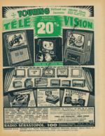 Ancienne Publicité (1960) : RADIO-SEBASTOPOL, Transistor, Electrophone, Magnétophone, Télévision, Stéréophonie... - Advertising