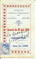 MARIEMONT   -   Harmonie Royale Des Charbonnages De Mariemont-Bascoup Concert Du 20 Juin 1954 - Programs