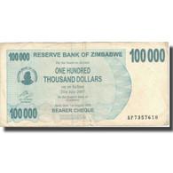Billet, Zimbabwe, 100,000 Dollars, 2007, 2007-07-31, KM:48b, B - Zimbabwe