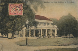 Woning Van Den Resident Te Soerabaia Colored P. Used To Cuba J.v. D. Have Compania De Manila - Indonésie