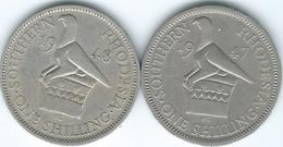 Southern Rhodesia - George VI - 1947 - Shilling - KM18b & 1952 - KM20 - Rhodésie