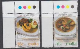 Europa Cept  2005 Malta 2v  (corner) ** Mnh (41888F) - Europa-CEPT