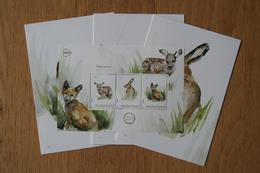 POSTSET Zoogdieren Hert Haas Vos Deer Hare Fox Renard Lièvre 2019 POSTFRIS MNH ** NEDERLAND NIEDERLANDE NETHERLANDS - 2013-... (Willem-Alexander)