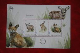 Minisheet Zoogdieren Hert Haas Vos Deer Hare Fox Renard Lièvre 2019 POSTFRIS MNH ** NEDERLAND NIEDERLANDE NETHERLANDS - 2013-... (Willem-Alexander)