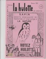 LA HULOTTE DES ARDENNES N° 9 / SOCIETE ARDENNAISE DE PROTECTION ET D' INITIATION A LA NATURE - Animals