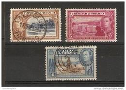 TRINIDAD & TOBAGO - 1938 King Geoge VI Views Used  SG 247, 249b, 250 - Trinidad & Tobago (...-1961)