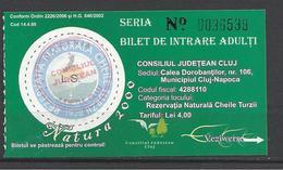 "Romania, Cluj, Kolozsvar ,""Natura 2000"" Expo, Protected Plants In Torda Gorges. - Tickets D'entrée"