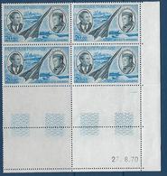 """FR Coins Datés Aerien YT 44 """" Morane """" Neuf** Du 27.8.70 - Dated Corners"""