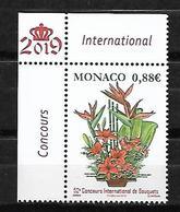 Monaco 2019 - Yv N° 3174 ** - Concours International De Bouquets - Neufs