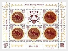 Kirgizië / Kyrgyzstan - Postfris / MNH - Sheet Jaar Van Het Varken 2019 - Kirgizië