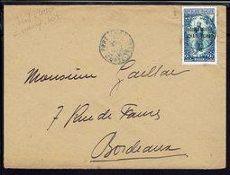 OUBANGUI - 1922 - Timbre N° 8 Surchargé Sur Enveloppe De Fort-Lamy Pour Bordeaux - B/TB - - Oubangui (1915-1936)