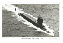66 CP - MARIUS BAR - SNLE L'  IMDOMPTABLE (1979) - Sous-marins