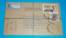 UGANDA - Registered R- Brief Lettre Cover Waran - Kobra Schlange Tiere (2 Foto)(134380) - Uganda (1962-...)