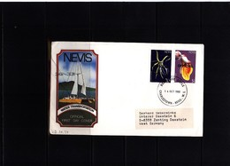 Nevis 1988 Interesting Airmail Letter - St.Kitts Und Nevis ( 1983-...)