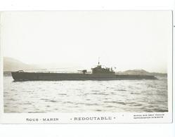 70 CP - MARIUS BAR - SOUS-MARIN  LE REDOUTABLE 1500 Tonnes (Sabordé à Toulon 1942) - Sous-marins