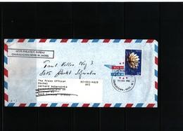 Nevis 1986 Interesting Airmail Letter - St.Kitts Und Nevis ( 1983-...)