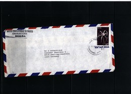 Nevis 1987 Interesting Airmail Letter - St.Kitts Und Nevis ( 1983-...)