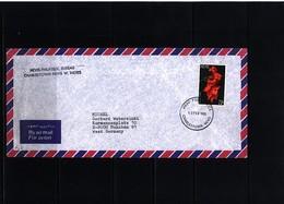 Nevis 1985 Interesting Airmail Letter - St.Kitts Und Nevis ( 1983-...)