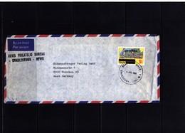 Nevis 1981 Interesting Airmail Letter - St.Kitts Und Nevis ( 1983-...)