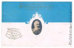 AK 47) Bayern, Prinzregent Luitpold, Prägekarte Deutschlandlied - Königshäuser