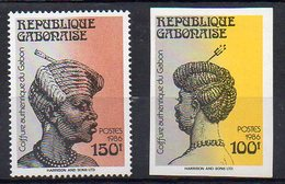 Gabon N° 611A Et 611B (Non Dentelé) Neufs ** - Coiffure Authentique Du Gabon - Gabon