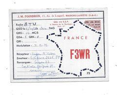 78 - Carte QSL Radio Amateur JM. POINDRON à MAISONS LAFFITTE - Radio Amateur