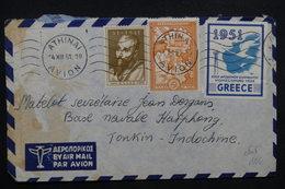 GRECE - Enveloppe De Athènes Pour Base Navale Française à Haiphong En 1951, Affranchissement Plaisant - L 23550 - Grèce