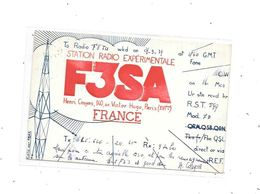 75 - PARIS 16 Ième : Carte QSL Henri Cosyns Avenue Victor Hugo , STATION RADIO EXPERIMENTALE - Radio Amateur