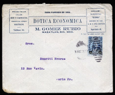 A3180) Mexico 3 Covers From 1920 To Paris / France - Mexiko