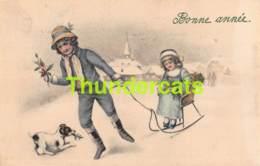CPA ILLUSTRATEUR V K VIENNE 5004/B FILLE GARCON CHIEN ARTIST SIGNED CARD BOY GIRL DOG - Vienne