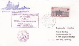 The Belgian Minehunter M902 Van Haverbeke Visiting Kiel P/m Kiel 1990   (G48-5) - Ships