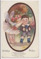 AK24 Artist Signed - Fred Spurgin Birthday Wishes, Angel Kissing Boy - Spurgin, Fred
