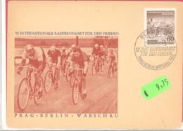 DDR  Michel # 357 2 Y I  Mit Plattenfehler II Auf Schmuckkarte Prag-Berlin-Warschau BPP Geprüft - DDR