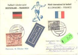 Berlin   Michel #  125  MiF Auf Sonderkarte Fussball Länderspiel  Deutschland - Frankreich - Used Stamps