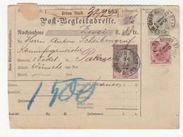 Austria Post-Begleitadresse Nachname Postal Stationery 1892 Brünn Stadt To Pakrac B190220 - Storia Postale