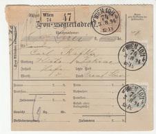 Austria Post-Begleitadresse Nachname Postal Stationery 1894 Wien To Pakrac B190220 - 1850-1918 Empire