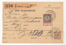 Austria Post-Begleitadresse Nachname Postal Stationery 1892 Wien To Pakrac B190220 - Storia Postale