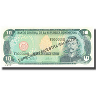 Billet, Dominican Republic, 10 Pesos Oro, 1998, 1998, Specimen, KM:153s, NEUF - Dominicaine
