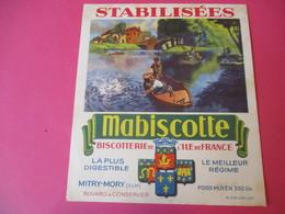 Buvard//Stabilisées/MABISCOTTE/Pêche Au Lancer/Biscotterie Ile De France/MITRY-MORY(S&M)/Sirven/Vers 1940-60  BUV440 - Zwieback