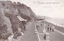 AS25 Sea Wall Promenade, Teignmouth - 1919 Postcard - England
