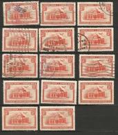 Costa Rica Airmail 3c. Lot Of FU MH* Stamps - Costa Rica