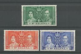 St Helena 1937 George VI Coronation  Y.T. 93/95 ** - Saint Helena Island