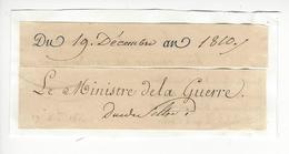 Henri-Jacques-Guillaume Clarke DUC DE FELTRE (1765-1818) AUTOGRAPHE ORIGINAL AUTOGRAPH EMPIRE Ministre De La Guerre - Autogramme & Autographen