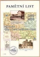 Rep. Ceca / Foglio Commemorativo (PaL 2010/02) Ceske Budejovice 2: Linea Ferroviaria 140 Anni Vienna-C. Budejovice-Plzen - Geographie