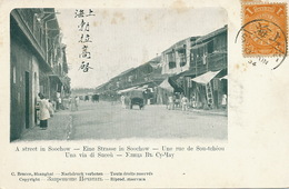 A Street In Soochow  Undivided Back . Stamped. Edit C. Bracco Shanghai - Chine