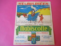 Buvard//Stabilisées/MABISCOTTE/Jeanne D'Arc Orléans/Biscotterie Ile De France/MITRY-MORY(S&M)/NUEZ/Vers1940-60  BUV443 - Zwieback