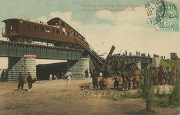 Railway Accident During Revolution Type Blanc China  Used To Nimes . Sin Chang Horse . Accident Train - Chine